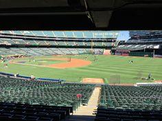 Inside O.com Coliseum in Oakland, CA.