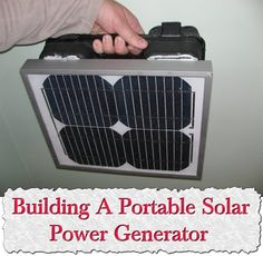 Building a portable solar generator http://calgary.isgreen.ca/living/life-style/fan-or-fanatic-can-you-be-too-green/