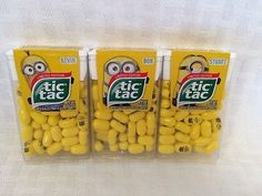 They are finally in NZ -- Despicable Me Minion Tic Tac Limited Edition Stuart Bob Kevin Set Of 3 Minions Friends, Minions Love, Minions Despicable Me, Minion Stuff, Minion Birthday, Minion Party, Baby Party, Tea Party, Bear Drink