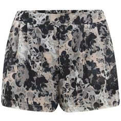 ONLY Women's Adele Shorts - Cloud Dancer ($11) ❤ liked on Polyvore featuring shorts, short, bottoms, multi, elastic waist shorts, stretch waist shorts, loose fitting shorts, loose short shorts and rayon shorts