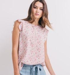 Bluzka damska kolorowy nadruk - Promod