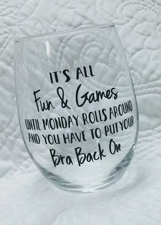 Excited to share the latest addition to my shop: Wine Glass-Funny Wine Glass-Stemless Wine Glass-Humorous Saying Wine Glass-Girl Humor-Fun & Games Wine Glass Vinyl Crafts, Vinyl Projects, Circuit Projects, Cork Crafts, Wine Games, Wine Glass Sayings, Funny Wine Sayings, Wine Glass Decals, Wine Glass Crafts