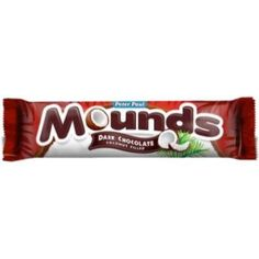 Mounds is a dark chocolate candy bar with a coconut filled center. If you love coconuts and chocolate, this is the perfect candy bar for you!