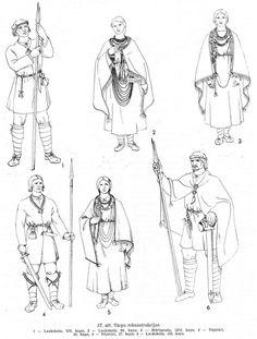 Anna Zariņa. Lībiešu apģērbs 10.-13. gs. 25. lpp. Apģērbu rekonstrukcijas.