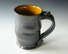 Pottery Coffee Mug / Handmade Wheel Thrown by riverstonepottery, $25.00