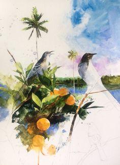 18x24 watercolor.