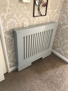 Is your home or apartment heated by old-school radiators? But these radiator units take up considerable wall space and, in many cases, they're unsightly. White Radiator Covers, Modern Radiator Cover, Contemporary Radiators, Traditional Radiators, Wall Heater Cover, Wall Radiators, Surface Art, Wall Spaces, Old Houses