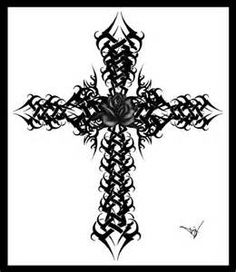 Gothic Cross Rose Version 2 By Quicksilverfury On Deviantart - 526 KB on Browse Tattoos Image Artists to get ideas for your next tattoo.