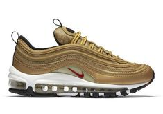 low priced abc88 21132 Womens Nike Air Max 97 OG Gold Metallic 2017 Mujeres Nike, Zapatos  Timberland, Air