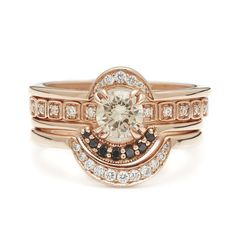 This is by far one of the most unique engagement rings i've seen- Wheat Suite No. 03 – Anna Sheffield Jewelry