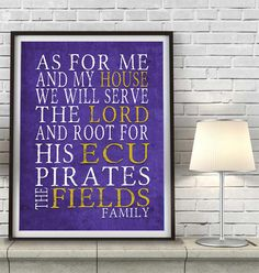 East Carolina ECU Pirates Inspired ART PRINT, unframed, As for Me Parody, father's day christian family wedding gift wall art, All Sizes by ParodyArtPrints on Etsy https://www.etsy.com/listing/224841554/east-carolina-ecu-pirates-inspired-art