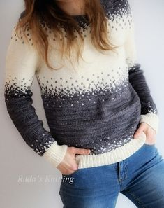 Ravelry: Pixelated Pullover pattern by Jennifer Beaumont (Top Round Pullover Sweaters) Sweater Knitting Patterns, Knit Patterns, Poncho, How To Purl Knit, Fair Isle Knitting, Knit Or Crochet, Pulls, Stitch Fix, Perfect Fit