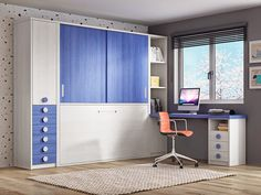 cama abatible con armario Bed Table, Corner Desk, Kids Room, Kitchen Cabinets, Bedroom, Wall, House, Furniture, Madrid