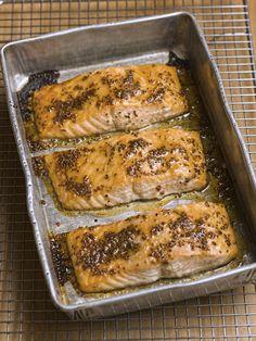 Slow-Baked Salmon with Honey Mustard Glaze - Chef Michael Smith