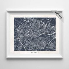 Rennes Map, France Print, Rennes Poster, French Art,  Artwork Sale, Giclee, Dorm Decor, Home Decor, Playroom Wall Art, Christmas Gift, Wall Art. PRICES FROM $9.95. CLICK PHOTO FOR DETAILS. #inkistprints #map #streetmap #giftforher #homedecor #nursery #wallart #walldecor #poster #print #christmas #christmasgift #weddinggift #nurserydecor #mothersdaygift #fathersdaygift #babygift #valentinesdaygift #dorm #decor #livingroom #bedroom