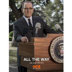 #AllTheWaymovie Bryan Cranston président ! Retrouvez l'incroyable héros de Breaking Bad dans un téléfilm HBO inédit produit par Steven Spielberg sur la figure de Lyndon Johnson, qui se retrouve malgré lui à la tête des États-Unis après l'assassinat de Ken