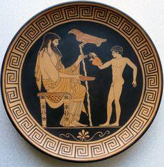 Ganymede Pouring Zeus a Libation Ancient Greek Sculpture, Ancient Greek Art, Ancient Greece, Greece Art, Greek Warrior, Greek Pottery, Roman Art, Gay Art, Pottery Painting