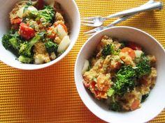 Quick & Easy Vegan Red Curry Quinoa | Vegangela