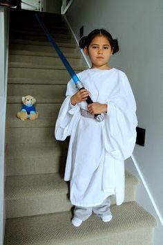 The Contemplative Creative: 2-Minute Princess Leia Costume