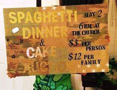 The Running Mormon: Camp Director Task #2: Spaghetti Dinner Fundraiser