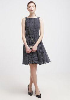 Swing - Cocktailkleid / festliches Kleid - schwarz-blau/weiß