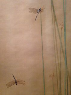Le Japon au fil des saisons. Musée Cernuschi. Watanabe Seisei - Prêles et libellules