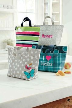 Thirty-One Thermal Totes... perfect sizes for beach, school,  work,  road trip snacks, baby bottles! Www