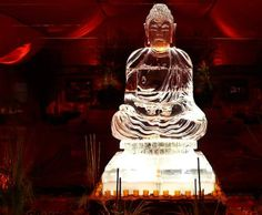 The Buddha -- ice sculpture