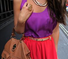 purple + red