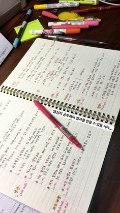 study Green Things green color r g b College Notes, School Notes, Pretty Notes, Good Notes, School Motivation, Study Motivation, Korean Handwriting, Korean Writing, Korean Lessons