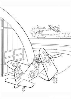 Målarbilder Flygplan 77