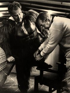 George Barrows getting fitted for another scene Female Gorilla, Gorilla Suit, Robot Monster, Animal Costumes, Fursuit, Real Life, Scene, Bear, Google Search