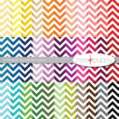 Chevron Digital Scrapbook Paper by Moo and Puppy