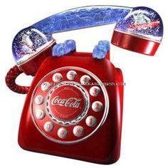 Coca Cola Telephone Snow Dome Coke Phone Polar Bear