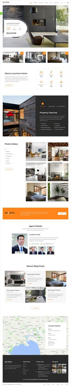 Sproperty is a clean and modern design 3in1 responsive #HTML5 bootstrap #theme for single #property #realestate business website to download & live preview click on image or Visit #webdev