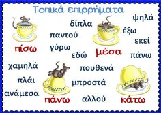 Picture Letter Activities, Learning Activities, Kids Learning, Greek Language, Speech And Language, Grammar Posters, Learn Greek, Greek Alphabet, Classroom Displays
