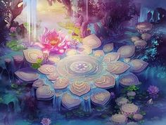 Satyagraha Fantasy Art Landscapes, Fantasy Landscape, Landscape Art, Fantasy Concept Art, Fantasy Artwork, Fantasy Background, Art Asiatique, Environment Concept Art, Anime Scenery