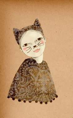 Kiki Cat art print of original drawing