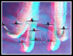 Planes in Formation BTW. get the app for Android here… Foto 3d, 3d Pictures, 3d Glasses, 3d Photo, 3d Painting, Red Blue Green, Map Design, The Real World, Single Image