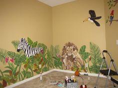 Jungle nursery I painted