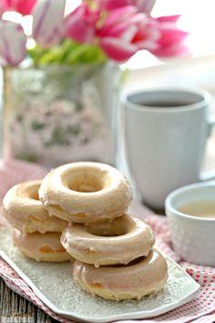 Caramel Vanilla Cream Baked Donuts