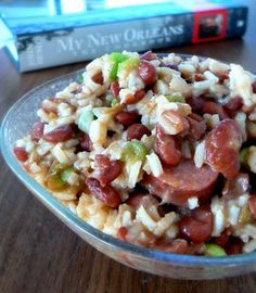 John Besh's Red Beans and Rice with Sausage. Mmmm looks so tasty!!