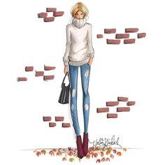 """""The Waiting Game"" on Etsy  hnillustration.etsy.com #fashionsketch #fashionillustrator #fashionillustration #bostonblogger #illustration #illustrator…"""
