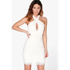 Boohoo advertisement white dress