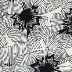 Cotton and Steel House Designer - Black and White 2 - Persephone in White