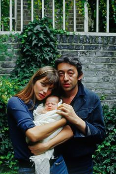 Jane Birkin and Serge Gainsbourg with Charlotte, London 1971 by Tony Frank.