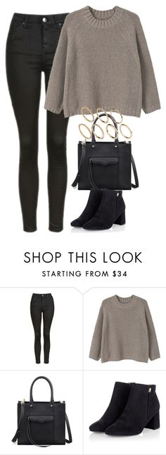 """Untitled #4257"" by keliseblog ❤ liked on Polyvore featuring Topshop, MANGO, Rebecca Minkoff and Pieces"