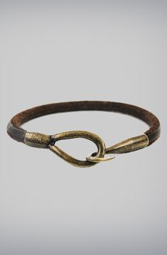 Rustic Crescent Genuine Leather Bracelet by Profound Aesthetic, $34