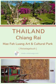 Was gibt es außer Tempel noch in #chiangrai? Ein besonderes Café 😻. Und eine bemerkenswerte Gartenanlage 🌼🌳: Mae Fah Luang Art and Cultural Park. Auf meiner Erkundungstour begegne ich nur wenigen Tourist*innen. ⠀⠀⠀⠀⠀⠀⠀⠀⠀⠀  // #madoreisen #madounterwegs👣 #reisetagebuch #asien #thailand #reisetipp #travel #tourismthailand // Werbung, da Firmen-/Marken-/Ort-/Personen-Nennung oder -Verlinkung ohne Auftrag, aber als persönliche Empfehlung // Dienstleistungen/Produkte/Unterkünfte selbst… Chiang Rai, Thailand, Park, News, Formal Gardens, Travel Scrapbook, Temples, Asia, Travel Advice