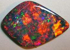 Polished Black Opal